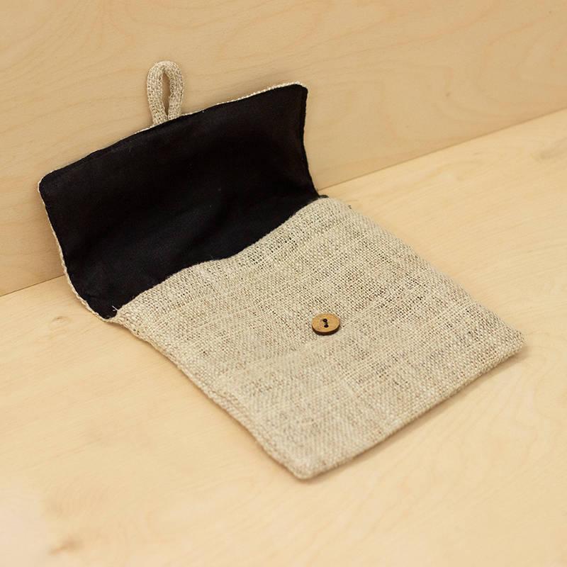 Hemp Hand Bag With Zip