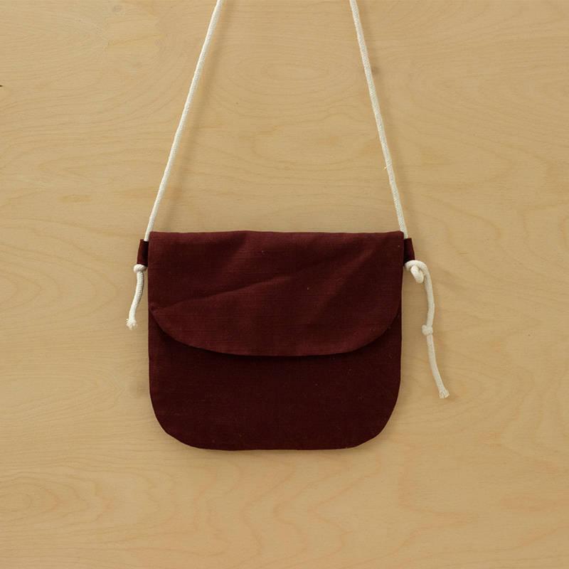 Hemp Sling Bag With Magnet
