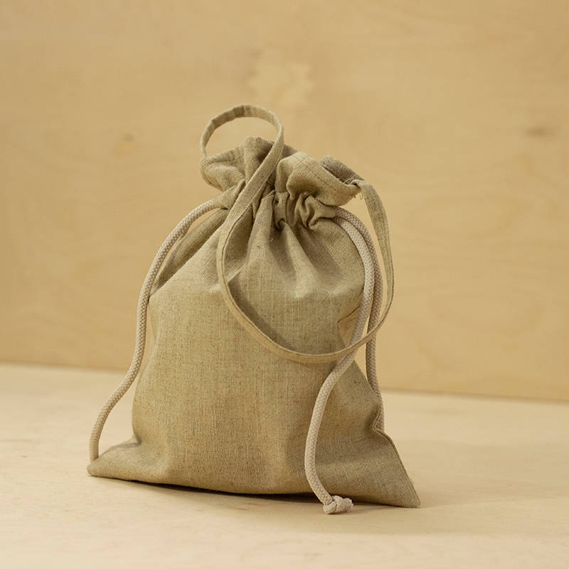 Hemp Gift Packaging Bag With Dori