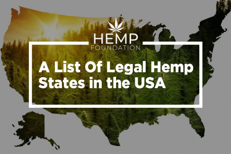 A List Of Legal Hemp States in the USA