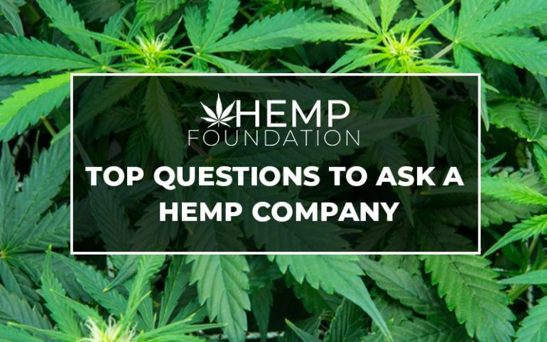 Top Questions To Ask A Hemp Company
