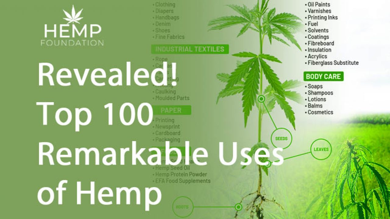 Revealed Top 100 Remarkable Uses Of Hemp