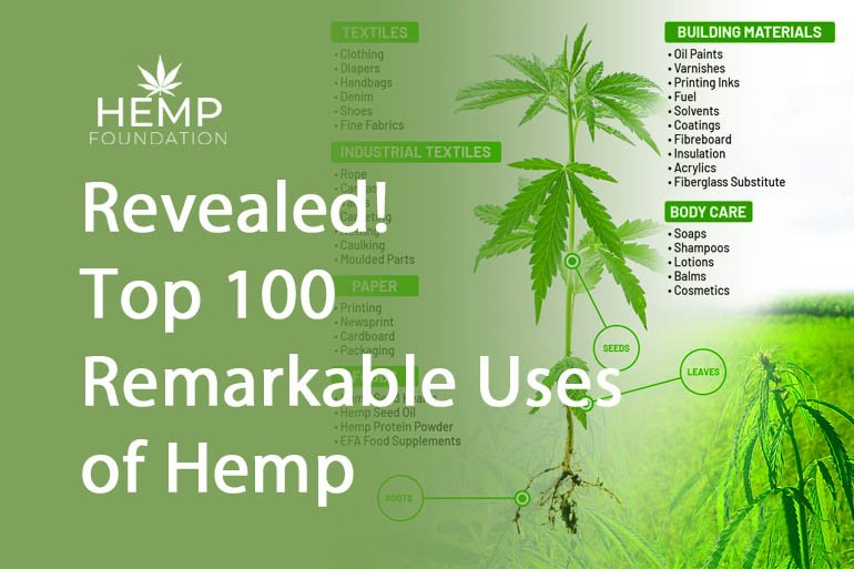 Revealed! Top 100 Remarkable Uses of Hemp