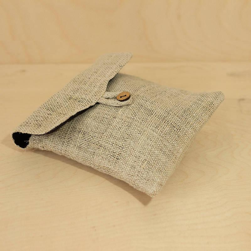 Hemp Bag With Coconut Button